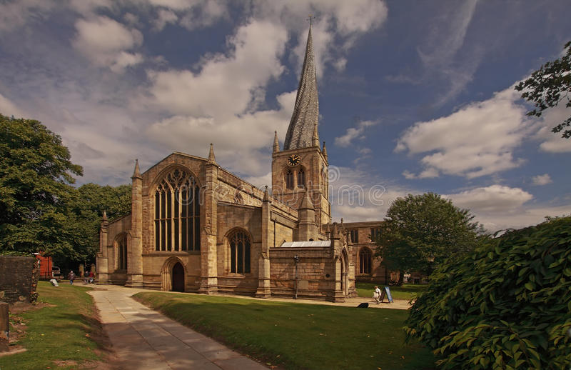 Download The Crooked Spire stock image. Image of crooked, church - 37226881