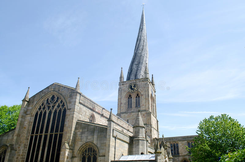 Crooked Spire Perspective View royalty free stock images