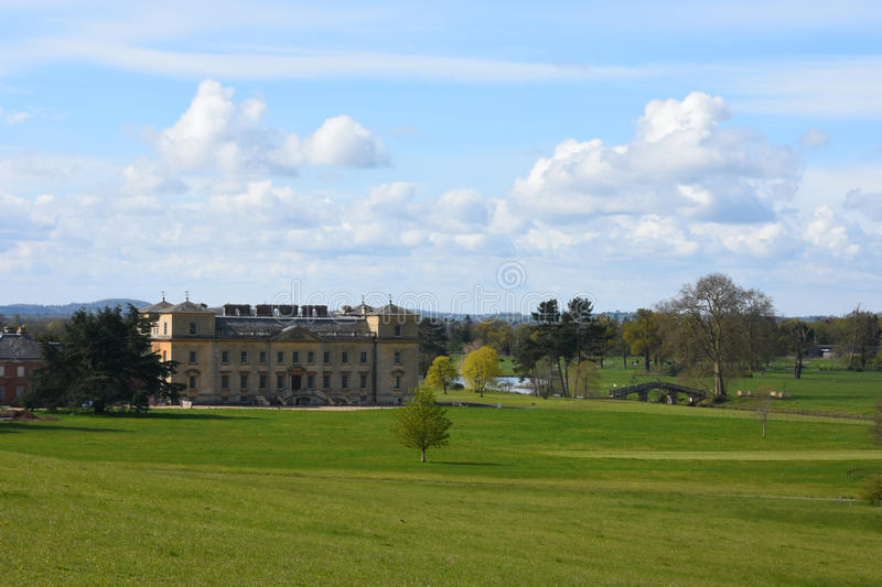 Croomehof, Croome D'Abitot, Worcestershire, Engeland royalty-vrije stock foto's