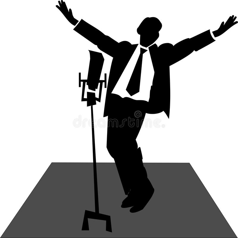 Free Crooner On Stage Royalty Free Stock Photos - 25494648