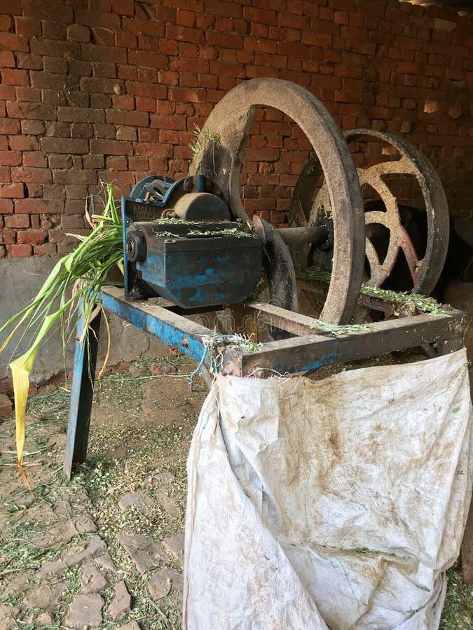 Crop cutting machine royalty free stock photo