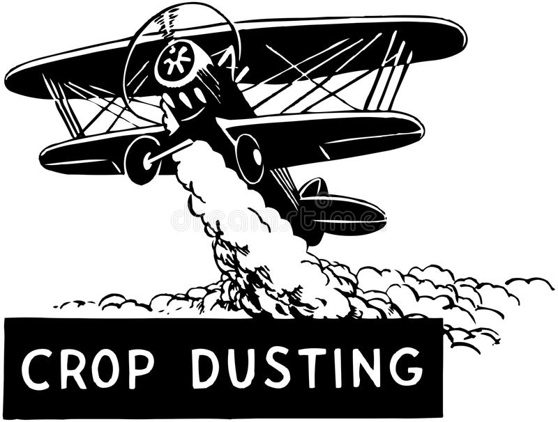 Crop Duster stock illustration
