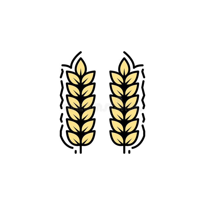Green Farming Crop Icons Stock Vector. Illustration Of
