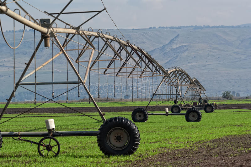 The crop irrigation system stock photography