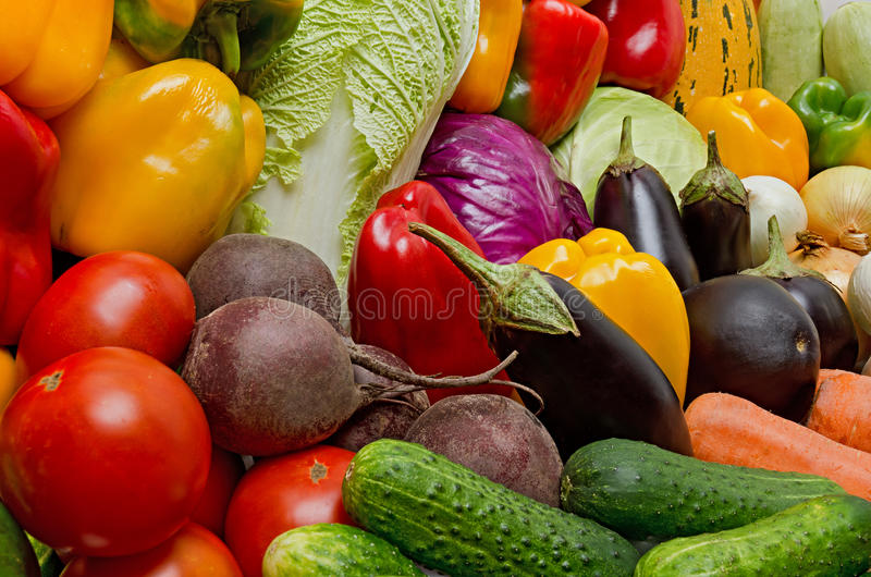 Crop of vegetables royalty free stock photos