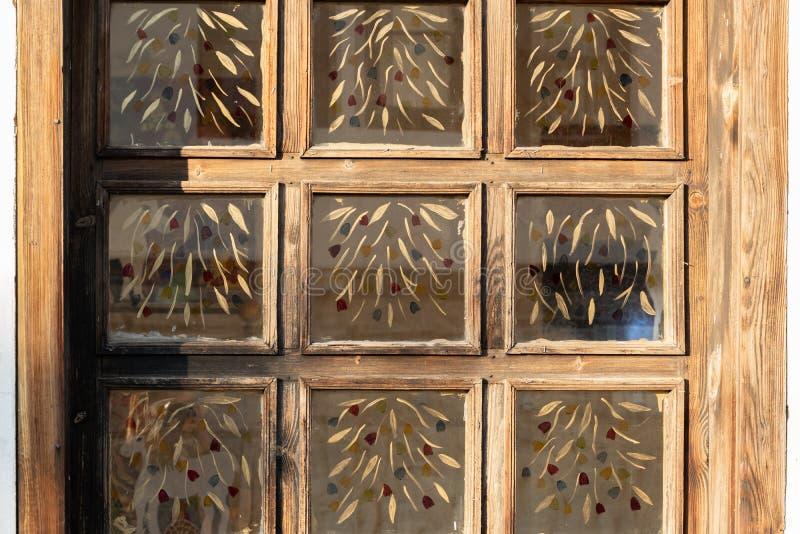 Crop view of retro style windows. Interior design detail. Crop view of retro style windows. Interior design stock photo