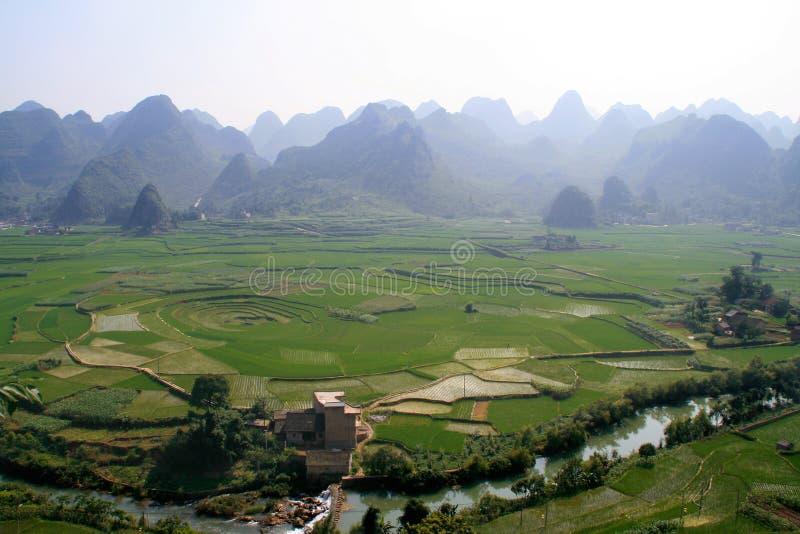 cropland 8-trigram, Xingyi, Китай стоковые изображения