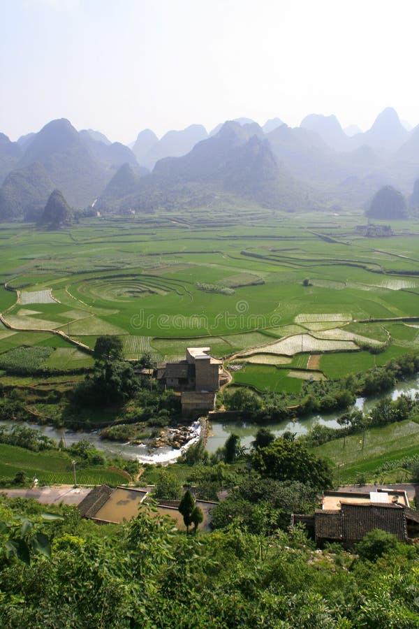 cropland 8-trigram, Xingyi, Китай стоковые фото