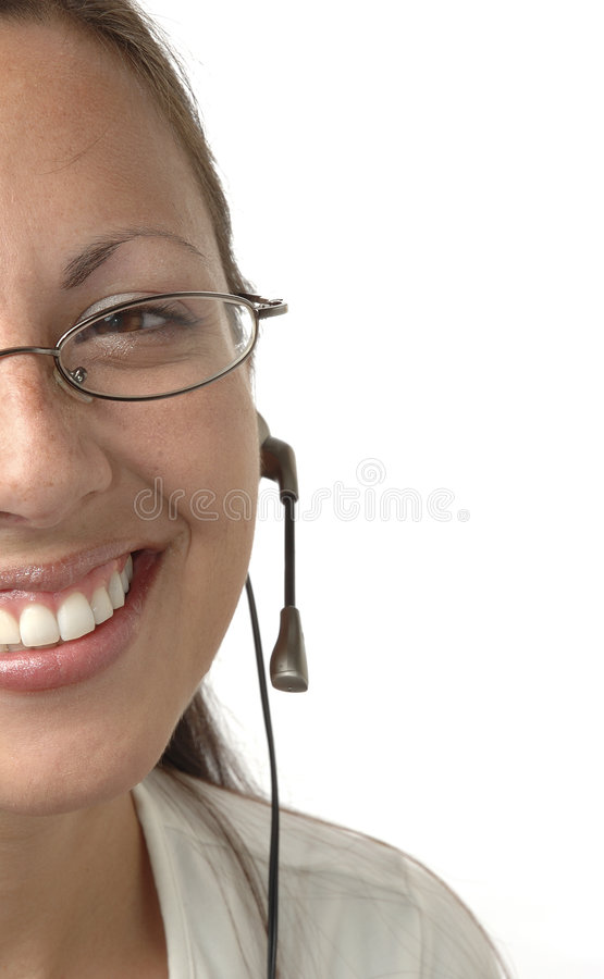 Cropped Headset Girl stock photography