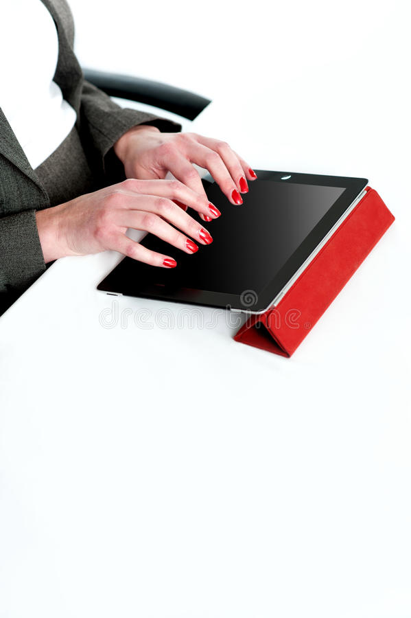 Download Cropped Image Of A Businesswoman Using Tablet Pc Stock Photo - Image: 25761832