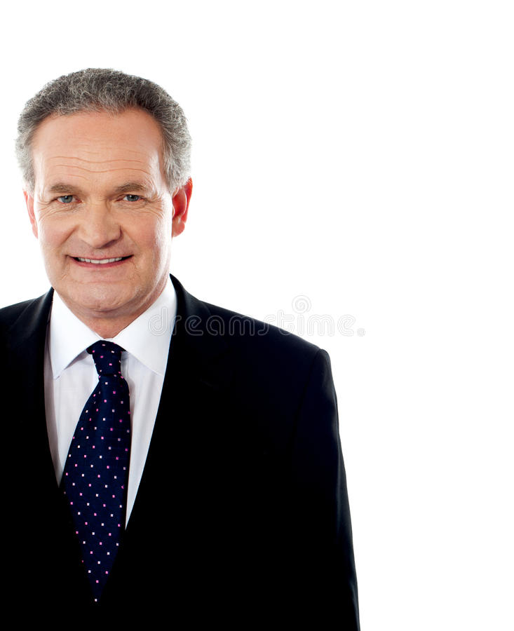Cropped image of handsome senior businessman stock photography