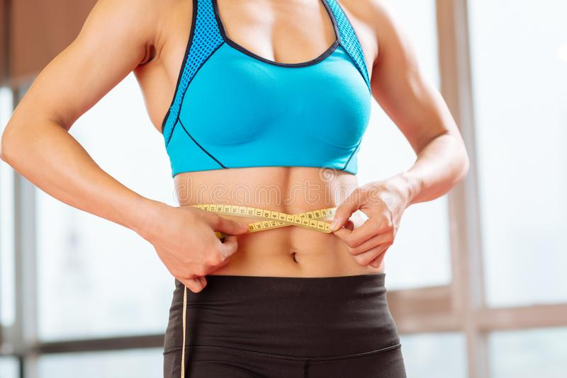 Slimming woman stock images