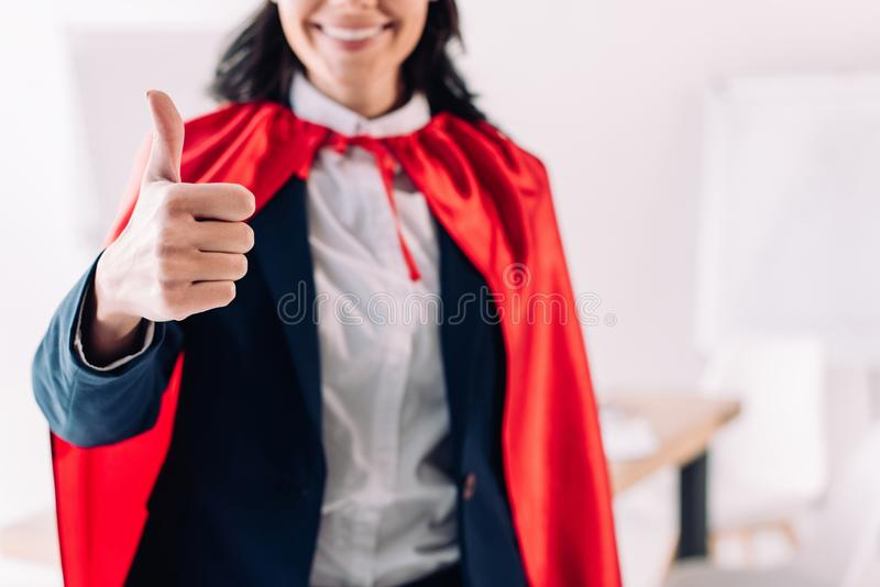 cropped image of super businesswoman royalty free stock photography