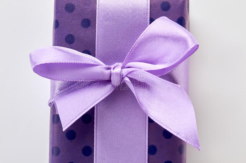 Cropped picture of gift box. stock photography