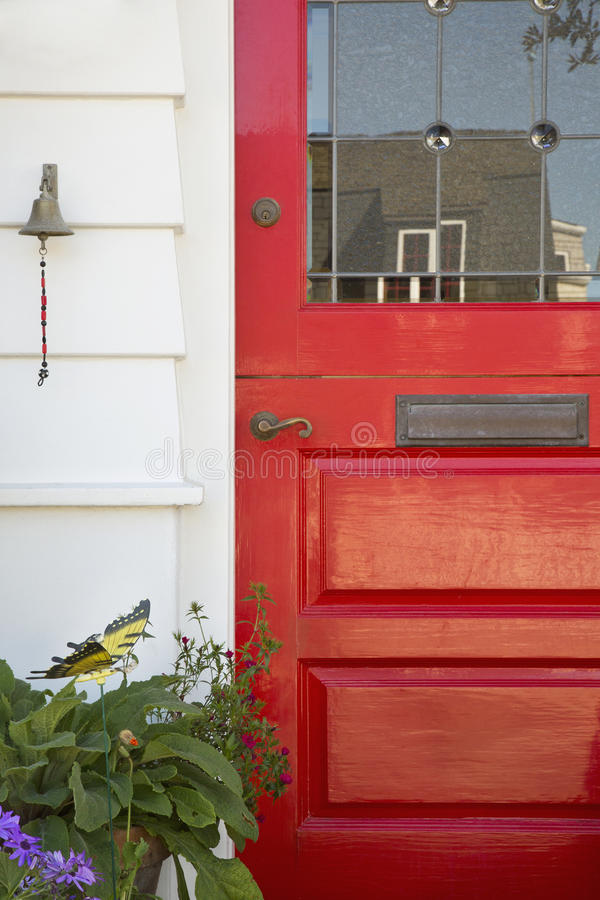 Red Door Home Two Simple Ideas To Add Character To Your: Red Door Home Stock Photo. Image Of Formal, House