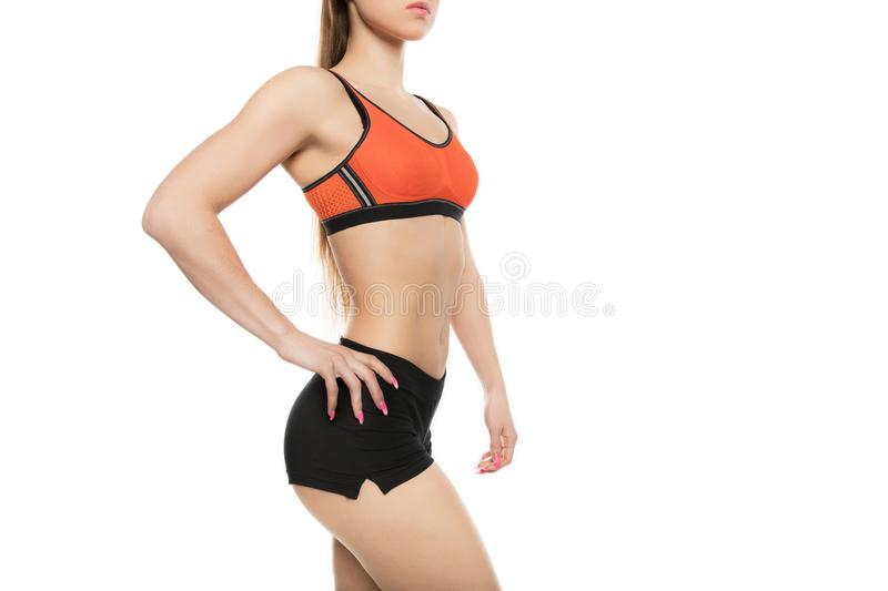 Sporty young woman royalty free stock images