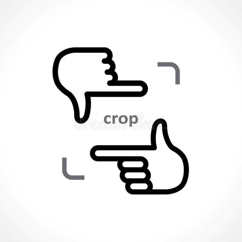 Cropping hands. Icon. vector eps 8 vector illustration