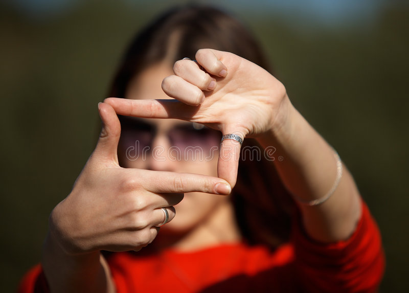 Download Cropping the World stock image. Image of finger, girl - 5361037