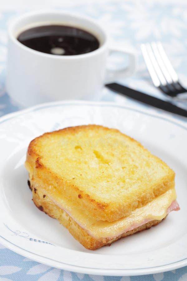 Download Croque-monsieur stock image. Image of black, breakfast - 16996325