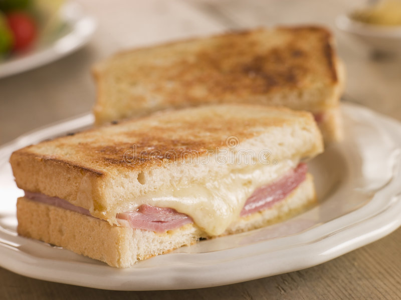 Croque Monsieur. On a plate