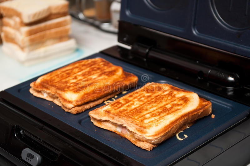 Croques-monsieur royalty free stock photography