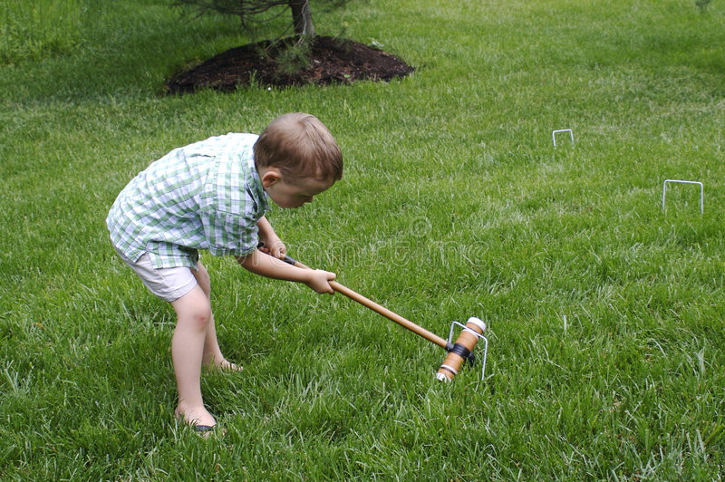 Download Croquet stock image. Image of strike, sport, child, outdoor - 5528713