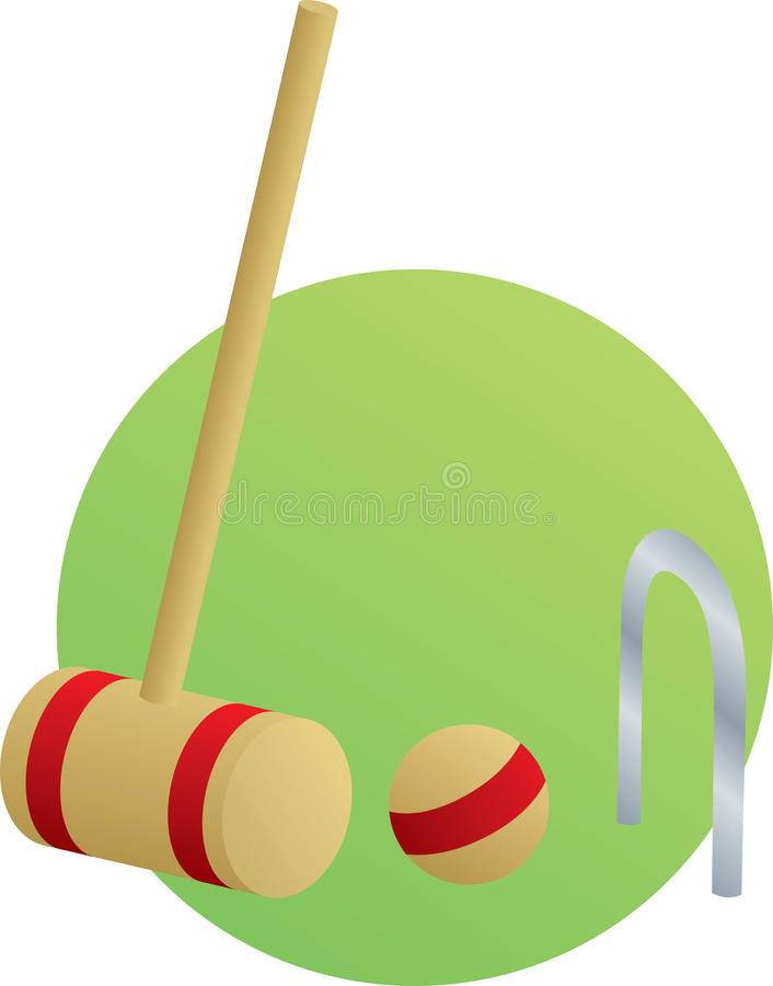 Download Croquet Game With Mallet And Ball Royalty Free Stock Images - Image: 12767229