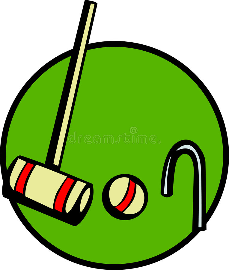 Download Croquet Game With Mallet, Wicket And Ball. Vector Stock Vector - Image: 1039247