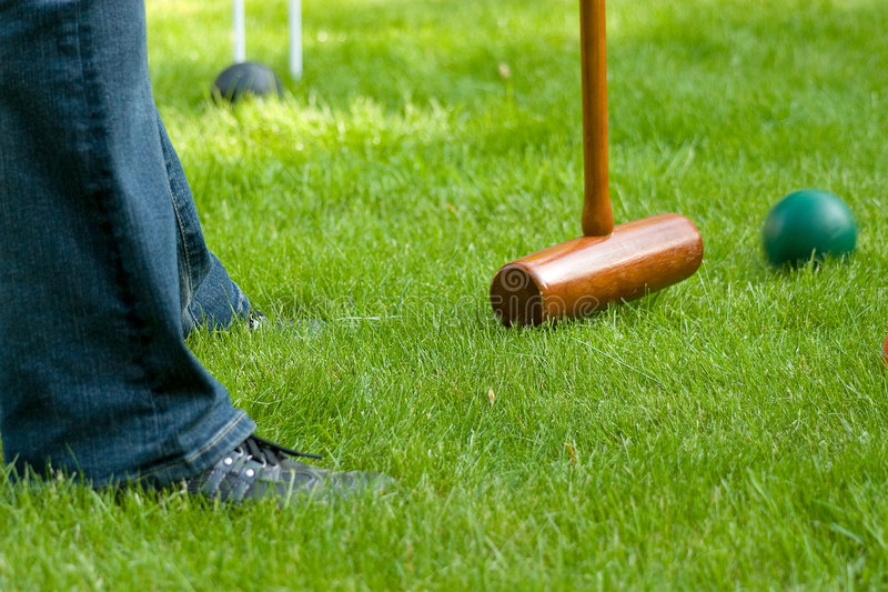 Croquet hit 2 royalty free stock photo