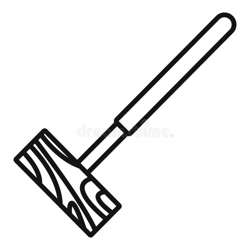 Croquet mallet icon, outline style. Croquet mallet icon. Outline croquet mallet vector icon for web design isolated on white background stock illustration