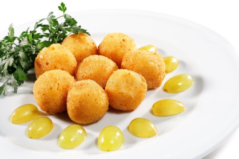 Croquetes do queijo fotografia de stock