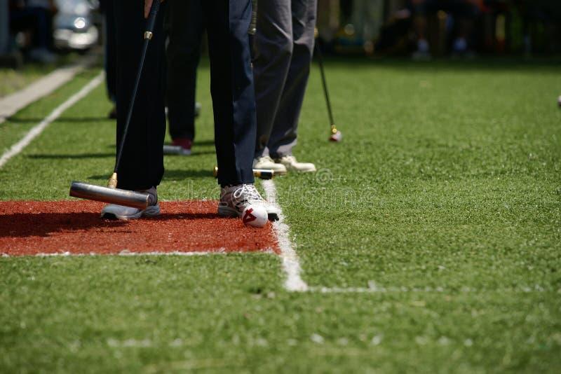 Croquetspel stock foto
