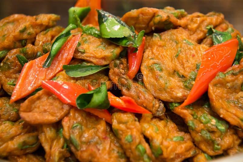 Croquette de poisson frite thaïlandaise photos stock