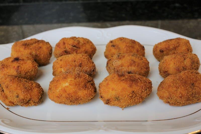 Croquettes зажаренные в оливковом масле стоковое фото