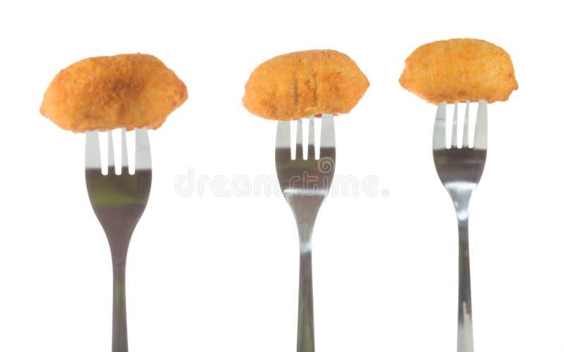 croquettes fotografia stock