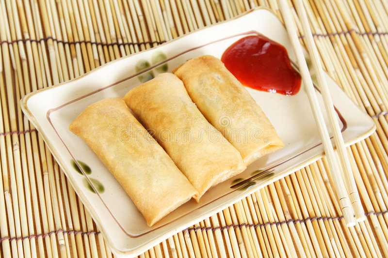 Croquettes chinoises image stock