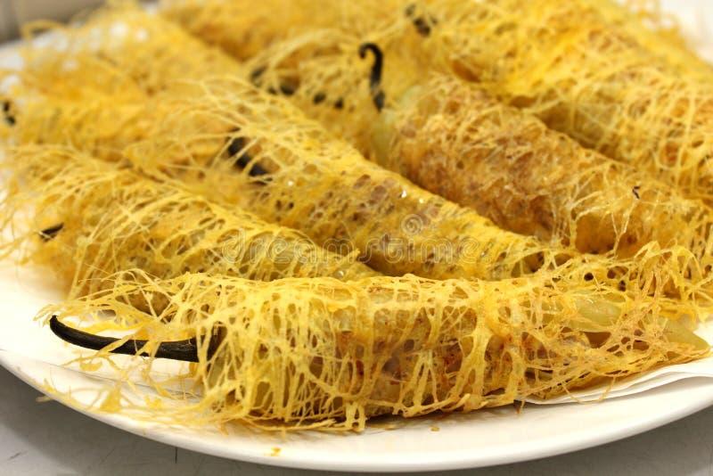 Croquettes chinoises faites maison, nourriture végétarienne photos libres de droits
