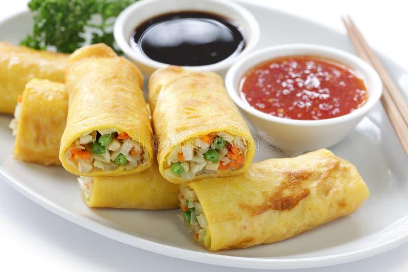 Croquettes chinoises végétariennes images stock
