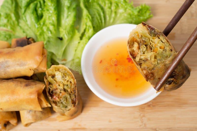 Croquettes chinoises vegeratian vietnamiennes photo libre de droits