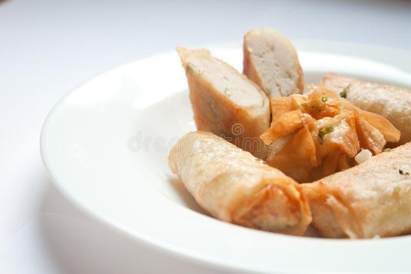 Croquettes de poisson frites photographie stock libre de droits