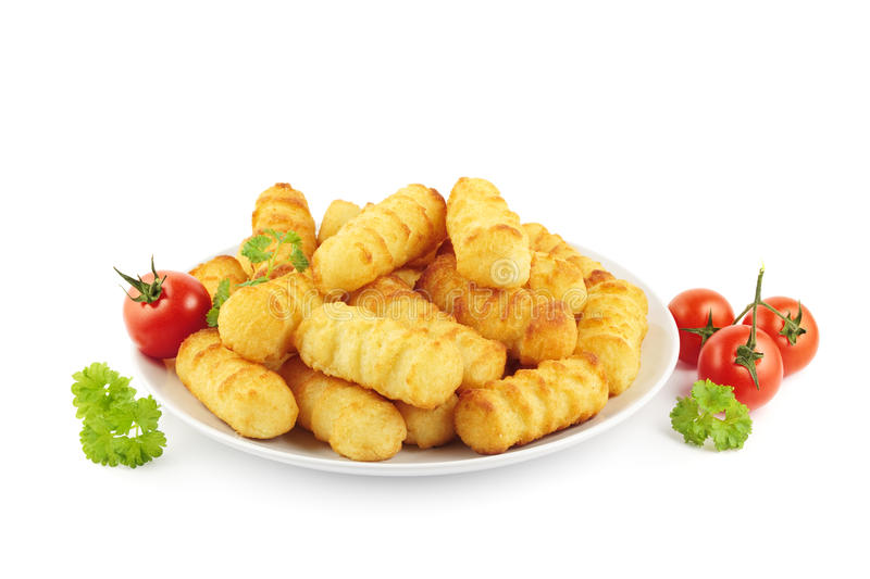 Download Croquettes on plate stock image. Image of vegetables - 28713705