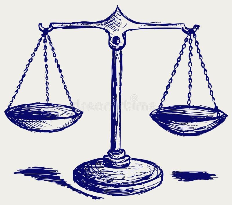 Croquis d'échelle illustration libre de droits
