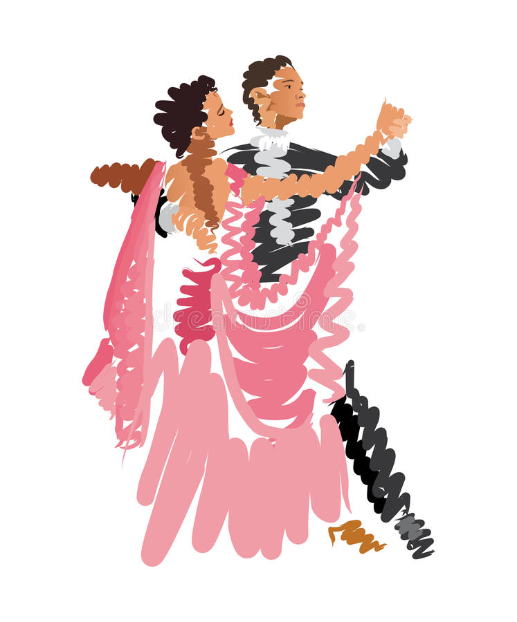 Croquis d'aquarelle des couples illustration de vecteur