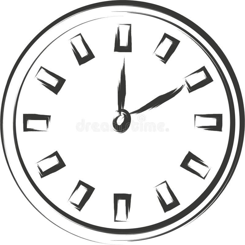 Croquis d'horloge photographie stock libre de droits