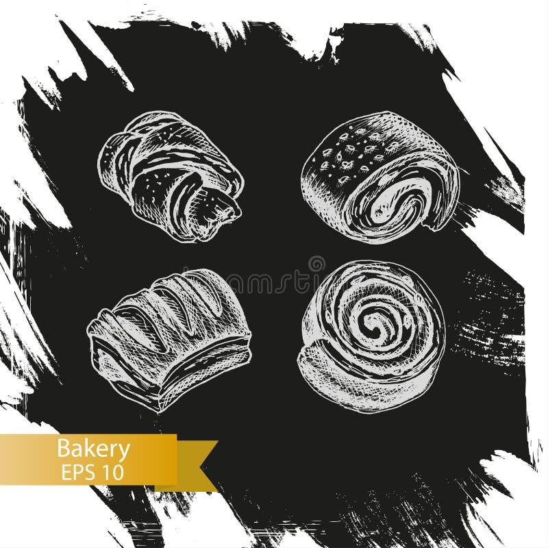 Croquis d'illustration de vecteur - boulangerie illustration de vecteur