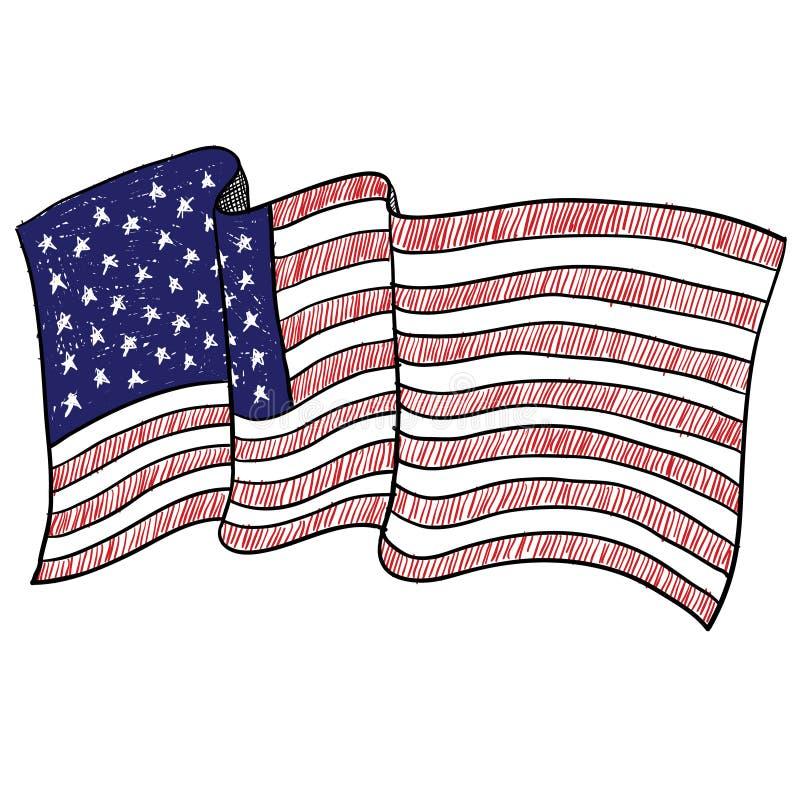 Croquis d'indicateur américain illustration stock