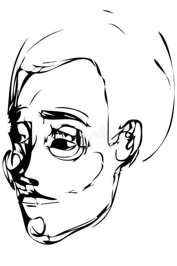 Croquis d'un jeune homme illustration stock