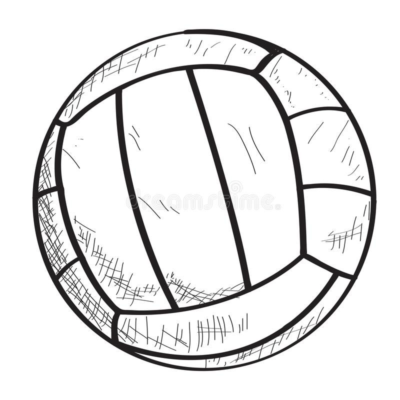 Croquis d'une boule de volleyball illustration libre de droits