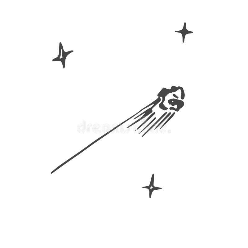 Croquis d'une météorite illustration stock