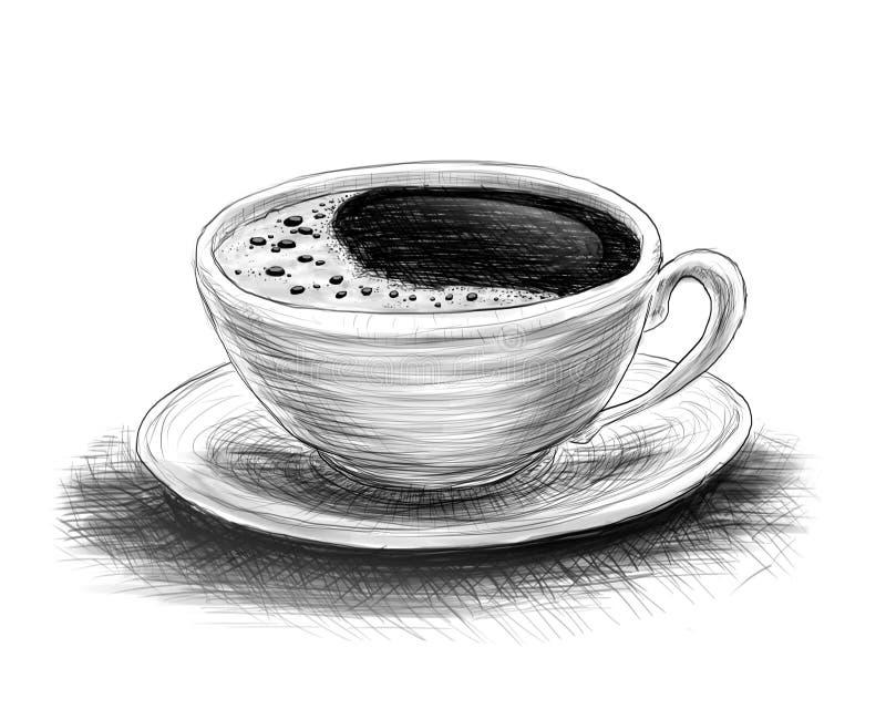 Croquis de café photo libre de droits